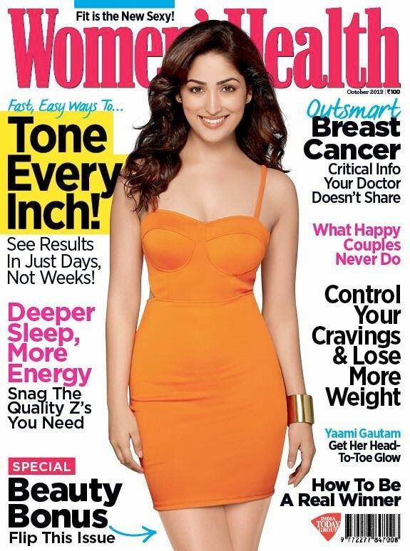 Yami Gautam on The Cover of Women's Health Magazine - October 2013.
