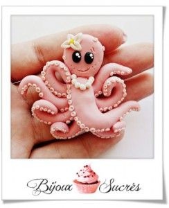 animaux de la mer en pâte fimo: The cutest Octopus on the web!Clay Ideas, Melting, Cake Ideas, Octopuses Tutorials, Cake Decor, Octopuses Toppers, Cake Tutorials, Polymer Clay, Cake Toppers