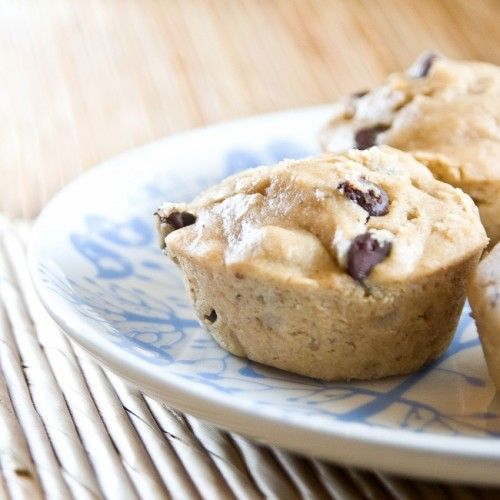 Low fat PB, banana, chocolate chip muffins...yes please!