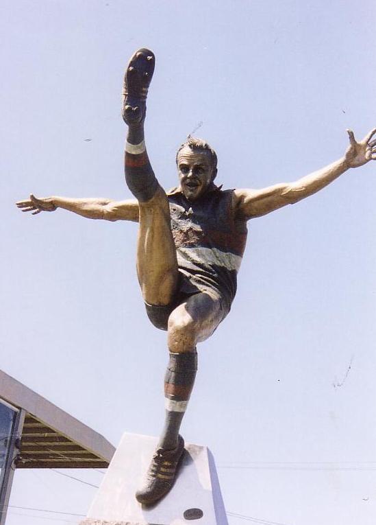 Statue of Teddy Whitten ( Footscray Football Club )