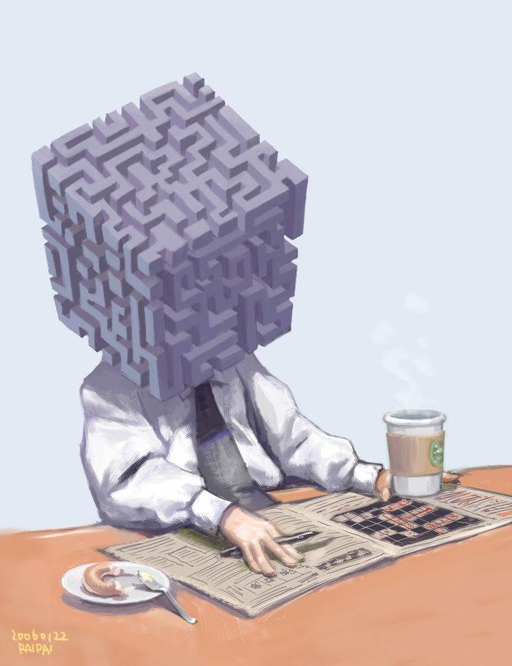 mazeman and crossword