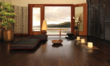 Beautiful yoga room with a view of the ocean yummy my - Yoga meditation room ideas ...