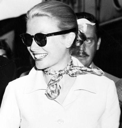 Grace Kelly wearing a Carré Hermès