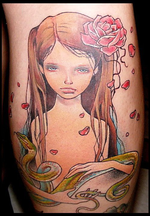 Audrey Kawasaki Tattoo done by the very talented artist Anson Eastin.   Forever Tattoo. Cape Coral, Florida.  USA.Forever Tattoo, Anson Eastin, Fellows Audrey, Capes Coral, Tattoo It D, Talent Artists, Tattoo Dreams, Audrey Kawasaki Tattoo, Artists Anson