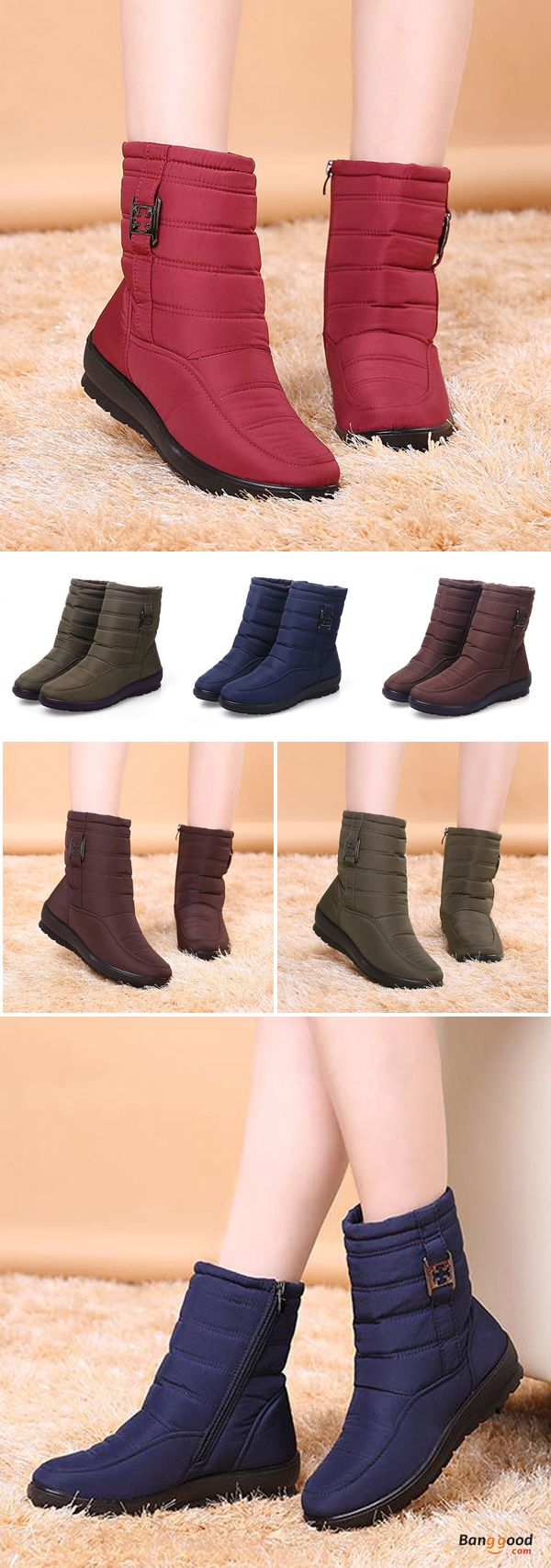 US$39.89 + Free shipping. Size: 5~11. Color: Black, Brown, Red, Blue, Army Green. Women's Shoes, Women's Boots, Women's Fashion, Winter Boots. SHOP NOW!