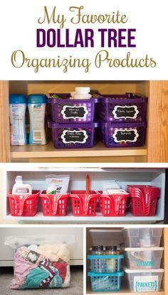 If you'd like to get organized on a budget, Dollar Tree organizing products are a fantastic tool.