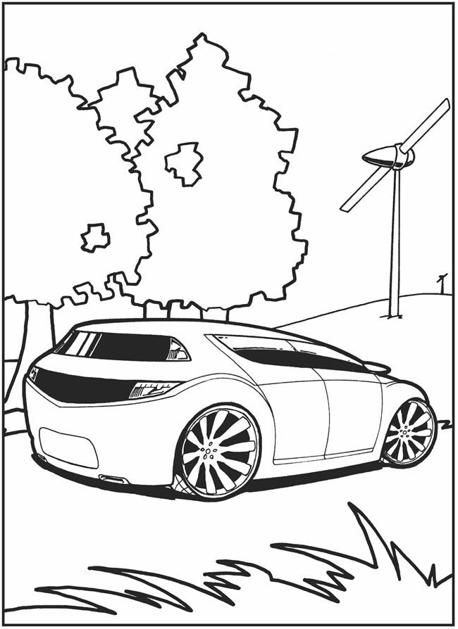 crazy car coloring pages - photo#2