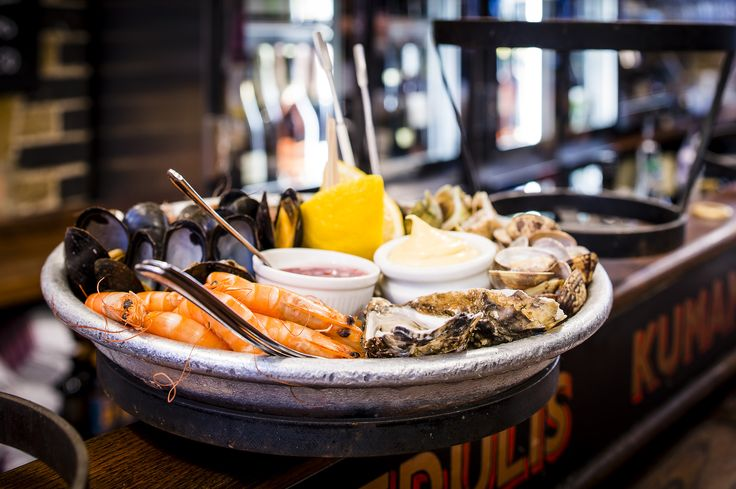 WRIGHT BROTHERS: Oyster bar and seafood nook with daily happy hours serving whitebait, crab and potted shrimp dishes. - Location: 56 Old Brompton Rd, SW7 3DY - Contact: 020 7581 0131 - Price: ££