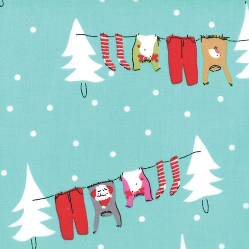 Washing Line in Peppermint | Cherry Christmas | Aneela Hoey | Moda Fabrics