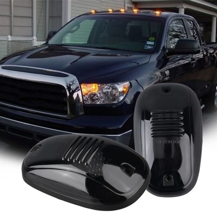 61.68$  Buy now - http://alinit.worldwells.pw/go.php?t=32755012881 - 2016 High Quality 5pcs Amber LED Cab Roof Top Marker Running Lights For Truck (Black Smoked Lens Lamps)Amber LED Light For SUV 61.68$