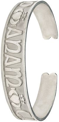 'Mo Anam Cara' Sterling Silver Bangle at Claddaghrings.com #valentinesgifts #silverbangles $179.00