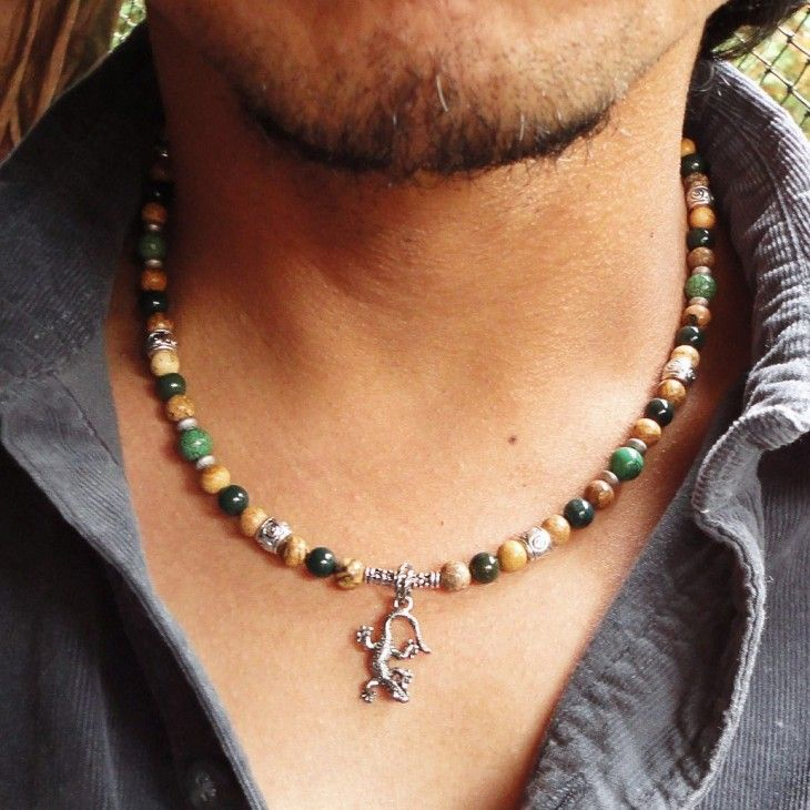 25+ best ideas about Mens beaded necklaces on Pinterest ...