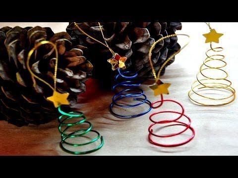 DIY : Adorno arbolito de alambre // Navidad - YouTube