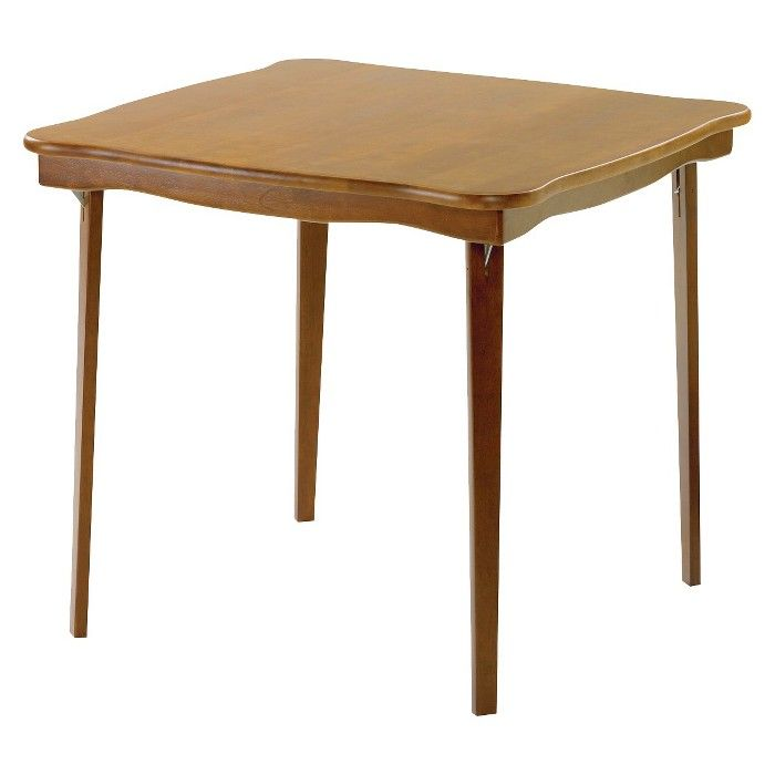 Scalloped Edge Folding Card Table Fruitwood Stakmore Target