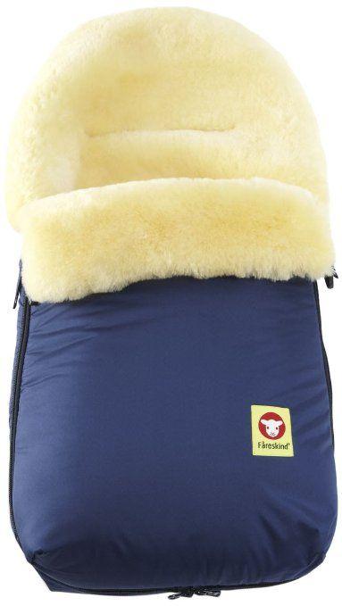 Fareskind Baby Go Cozy Sheepskin Bunting Bag, Blue, 0-12 Months