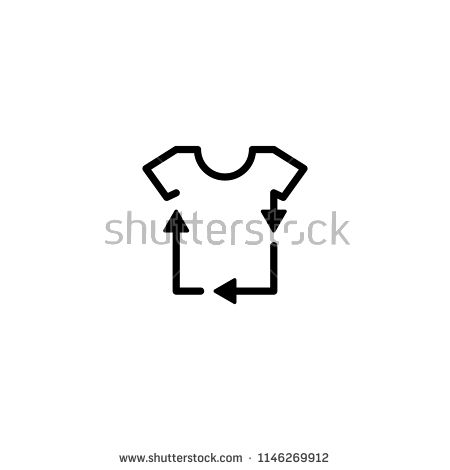 recycled recycle tee clothes t shirt laundry logo icon