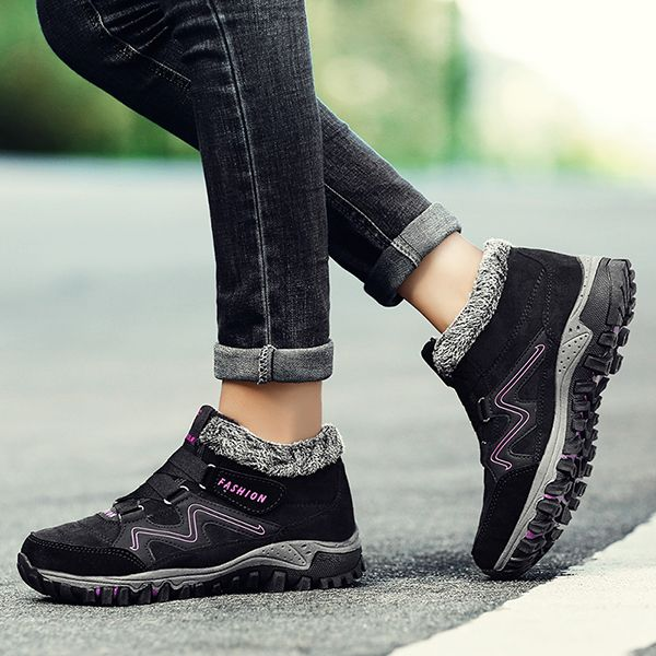Large Size Women Non Slip Hook Loop Casual Ankle Boots