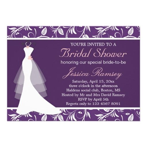 20 Best Bridal Shower Invitations Purple Images On