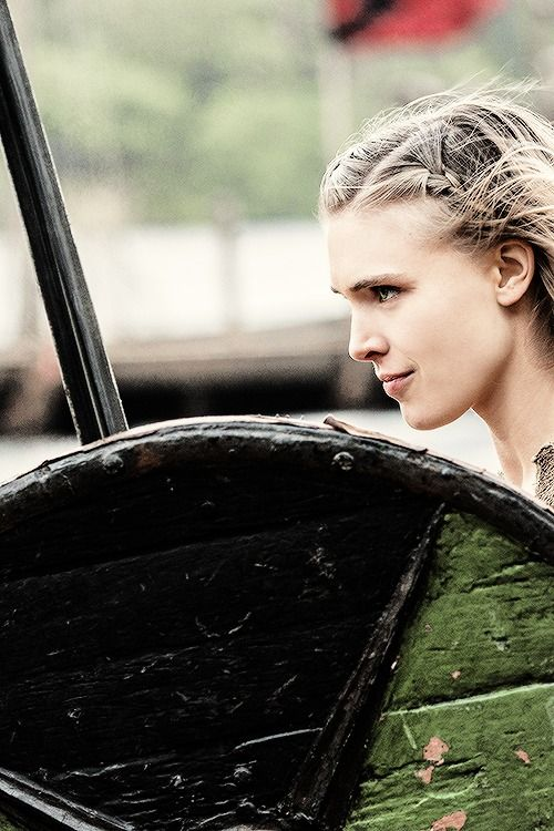 "Vikings. Thorunn. ""I want to fight in the shield wall. I want to be like Lagertha."""