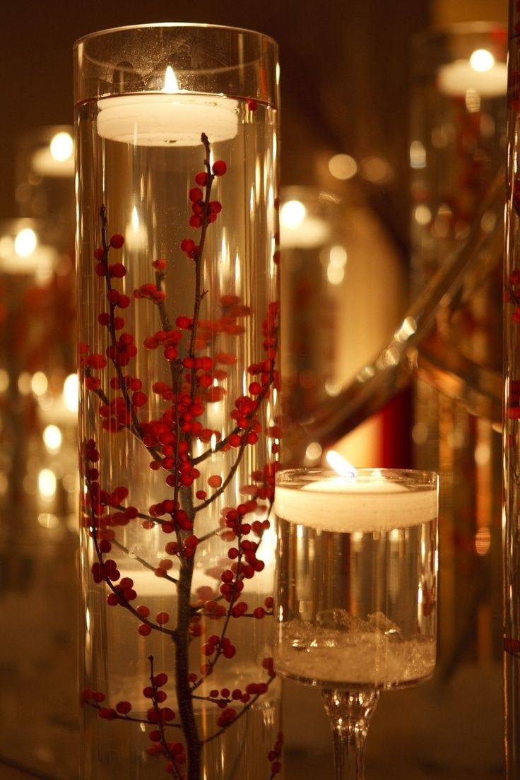 Best floating candle centerpieces images on pinterest