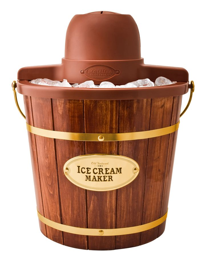 Features:  -Make ice cream, frozen yogurt or gelato.  -Use ingredients right from local market for fresh homemade ice cream.  -Plastic insert so bucket does not leak and for easy cleaning.  -Deluxe me