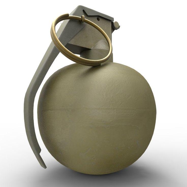 M67 Grenade Obj - 3D Model