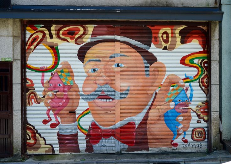 MOT8 (2014). Shutter art in Shimokitazawa.