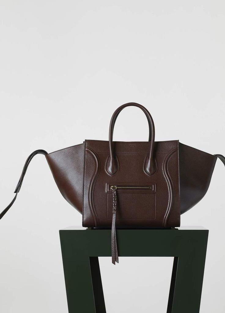 celine bags to buy online - Medium Luggage Phantom Handbag in Brown Shiny Grained Calfskin ...