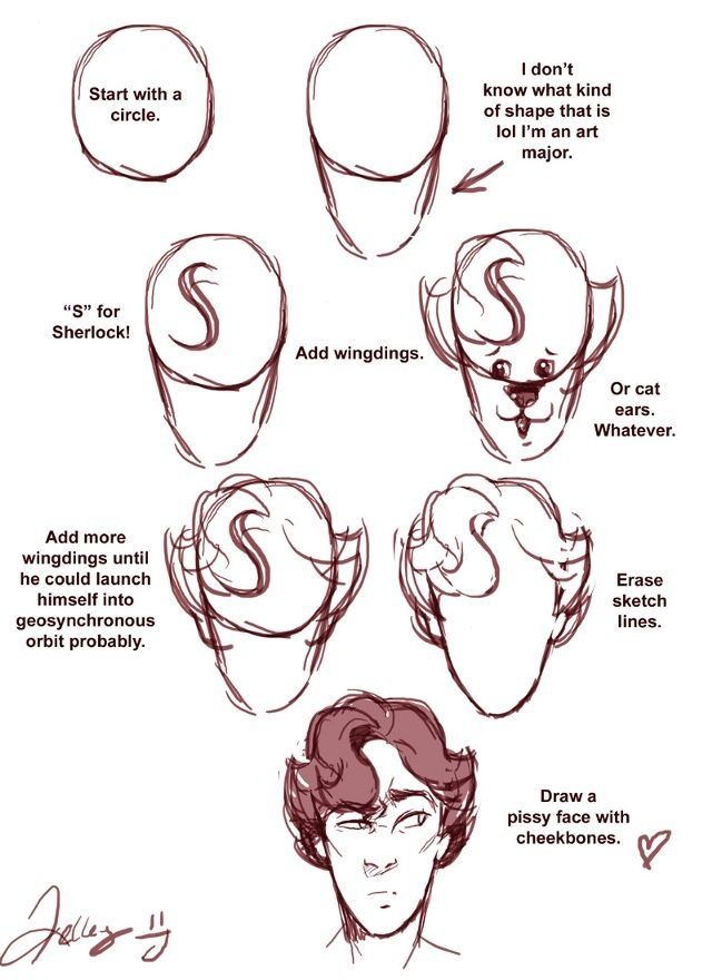 How to draw Benedict Cumberbatch || Sherlock