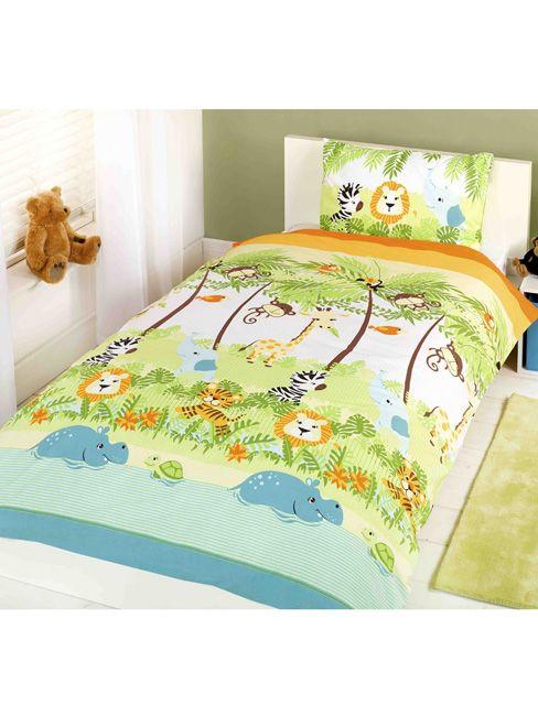 Jungle Boogie Single Duvet Cover and Pillowcase Set - Kids Bedroom