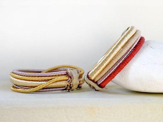 Gold bracelet/Gold bangle/Bangle bracelet/Rope bracelet/Bracelet cuff/Hippie boho/Boho jewelry/Mixed bangles/Christmas gift  ► BEFORE PURCHASING PLEASE