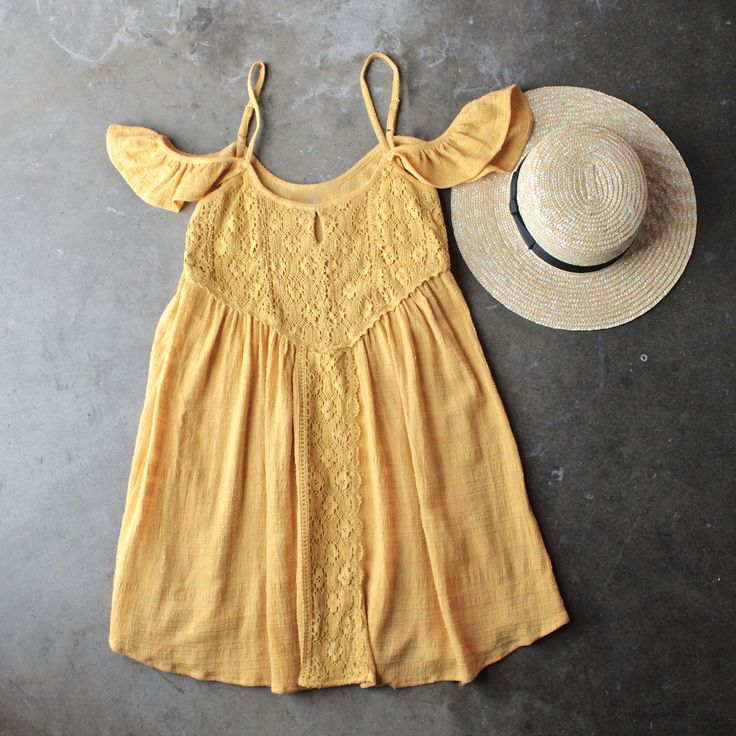gauzy flutter sleeve boho dress - shophearts - 1