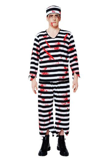 picture of Bloody Prisoner Costume Set (Mens) 3