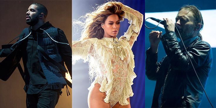 Drake and Beyoncé Beat Radiohead on Billboard Album Chart - Radiohead's A Moon Shaped Pool earned their sixth top ten album on the Billboard 200 chart this week. The album debuted at #3, finishing underneath Drake's VIEWS (which just broke the overall record for album streams in a single week) and Beyoncé's Lemonade. Radiohead's latest LP also hit No. 1 on the UK sales chart, the sixth Radiohead album to do so. A Moon Shaped Pool is up for sale via Radiohead's website. It is available…