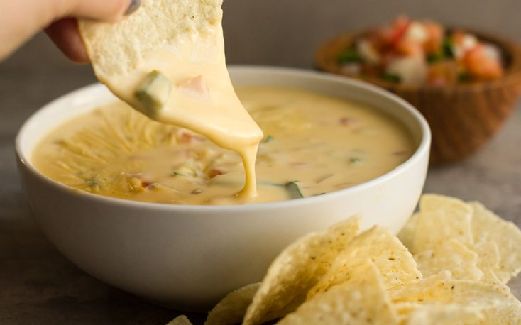 The BEST Tex Mex Queso - made WITHOUT Velveeta and Rotel. This recipe is just like what you find in restaurants and is a hit at every party.