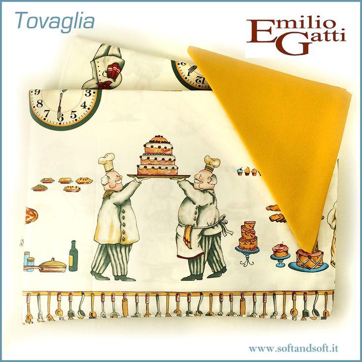 LOIRA+Pasticceri+Tovaglia+per+12+con+tovaglioli+Gatti+Emilio