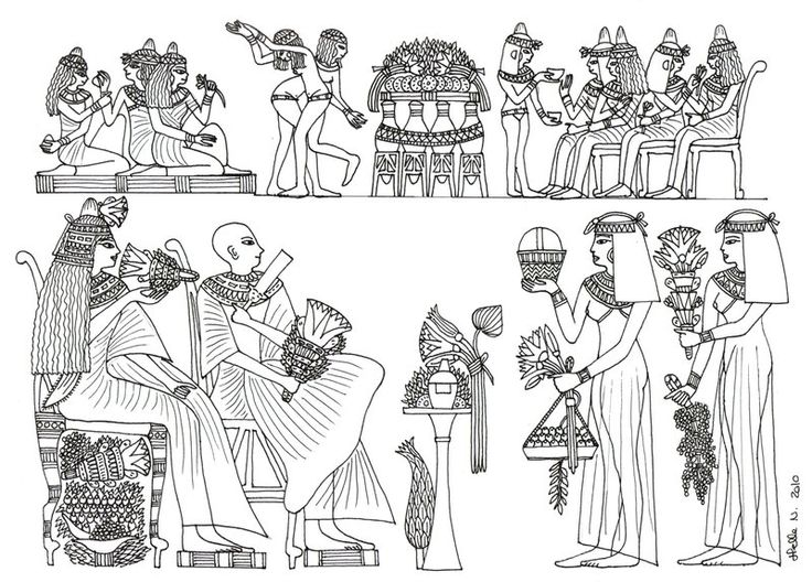 37 Best Coloring Pages LineArt Ancient Egypt Images On