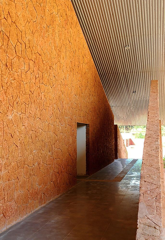 Gallery of Valpoi Busstand and Community Hall / Rahul Deshpande and Associates - 8