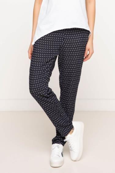 DeFacto Basic Yüksek Bel Desenli Pantolon