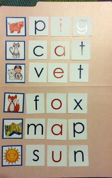 SAMPLE Early Literacy Tools: Elkonin boxes and Medial Vowel Set