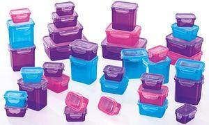 Groupon-Gutschein - 72-teiliges Set GOURMETmaxx Frischhaltedosen Klick-it in Lila/Pink/Türkis (63% sparen*). Groupon-Deal-Preis: 29,99€