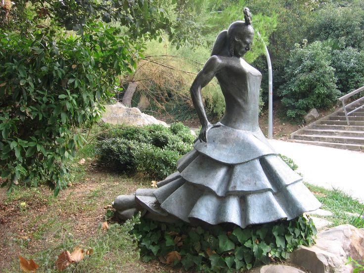 carmen statue barcelona  in park in Montjuic