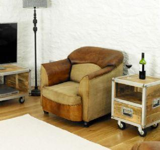 Roadie Chic Leather Tub Chair #lounge #livingroom #interior #bohointerior #bohemianhome #bohemian #homedecor #leather #chair #furniture #woodfurniture #homeinspiration