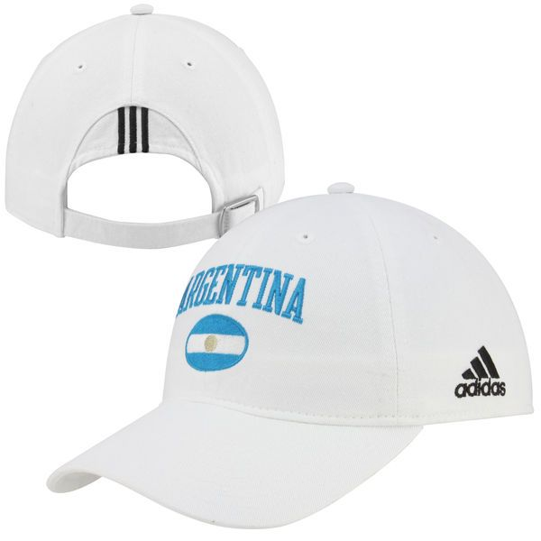adidas Argentina Country Adjustable Slouch Hat - White - $9.99