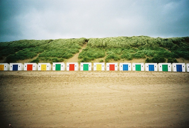 woolacombe beach huts by lomokev on Flickr