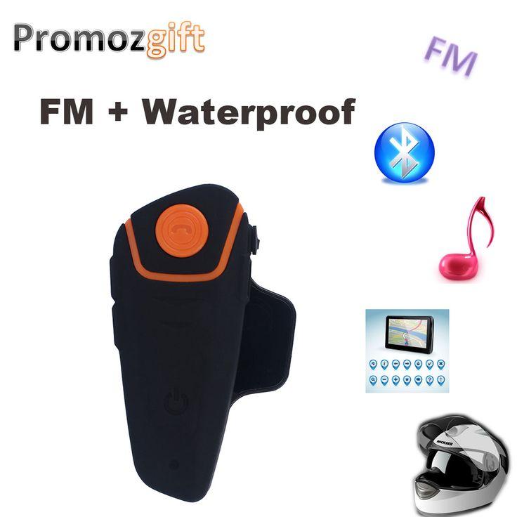 Bluetooth Intercomunicador Del Casco BT BT-S2 IPX7 Impermeable 3.0 con FM! BT-S2 1000 m Motocicleta Intercomunicador del casco de bluetooth Headset