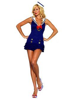 Sexy Sweetheart Sailor Womens Costume   Cheap Military Halloween Costume for Sexy Costumes