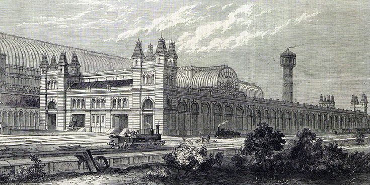 Crystal Palace 1865 high level station, london illustrated news
