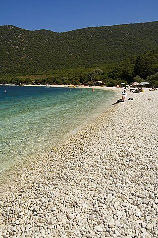 Antisamos Beach near Sami, Kefalonia (Cephalonia), Ionian Islands, Greece, Europe