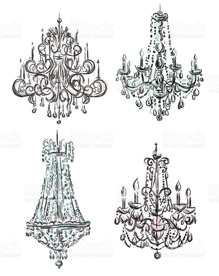 11 best chandeliers sketch images on Pinterest ...